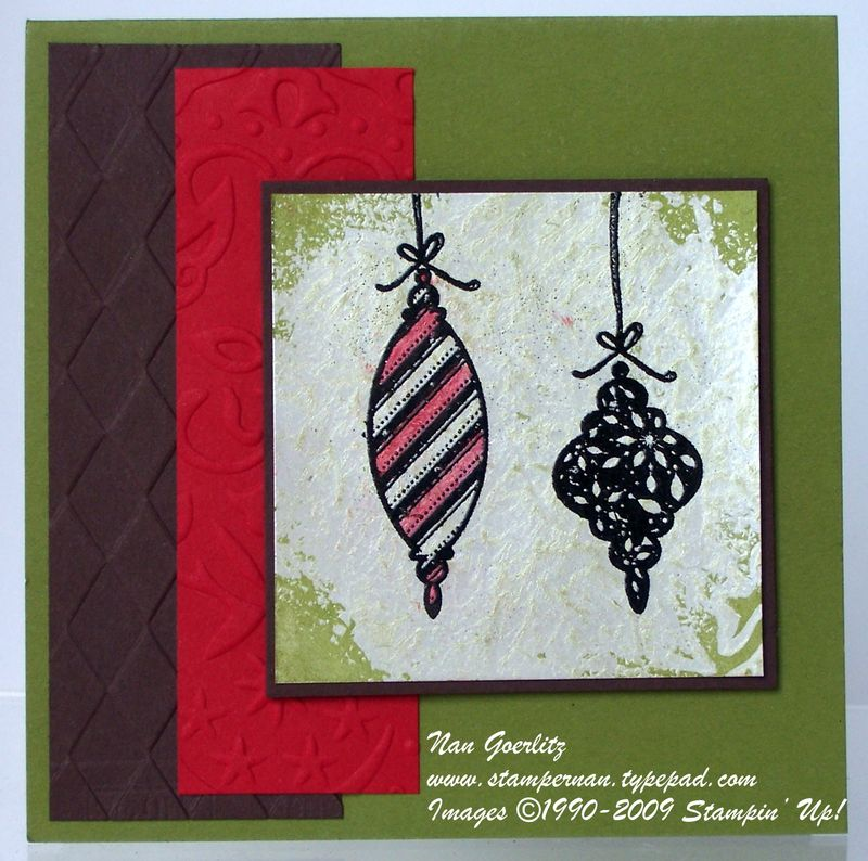 Mother of Pearl Ornament card