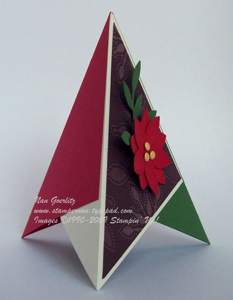 Tirangle Holiday card side view