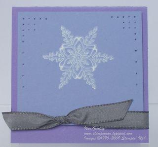 Icicle Snowflake 3x3